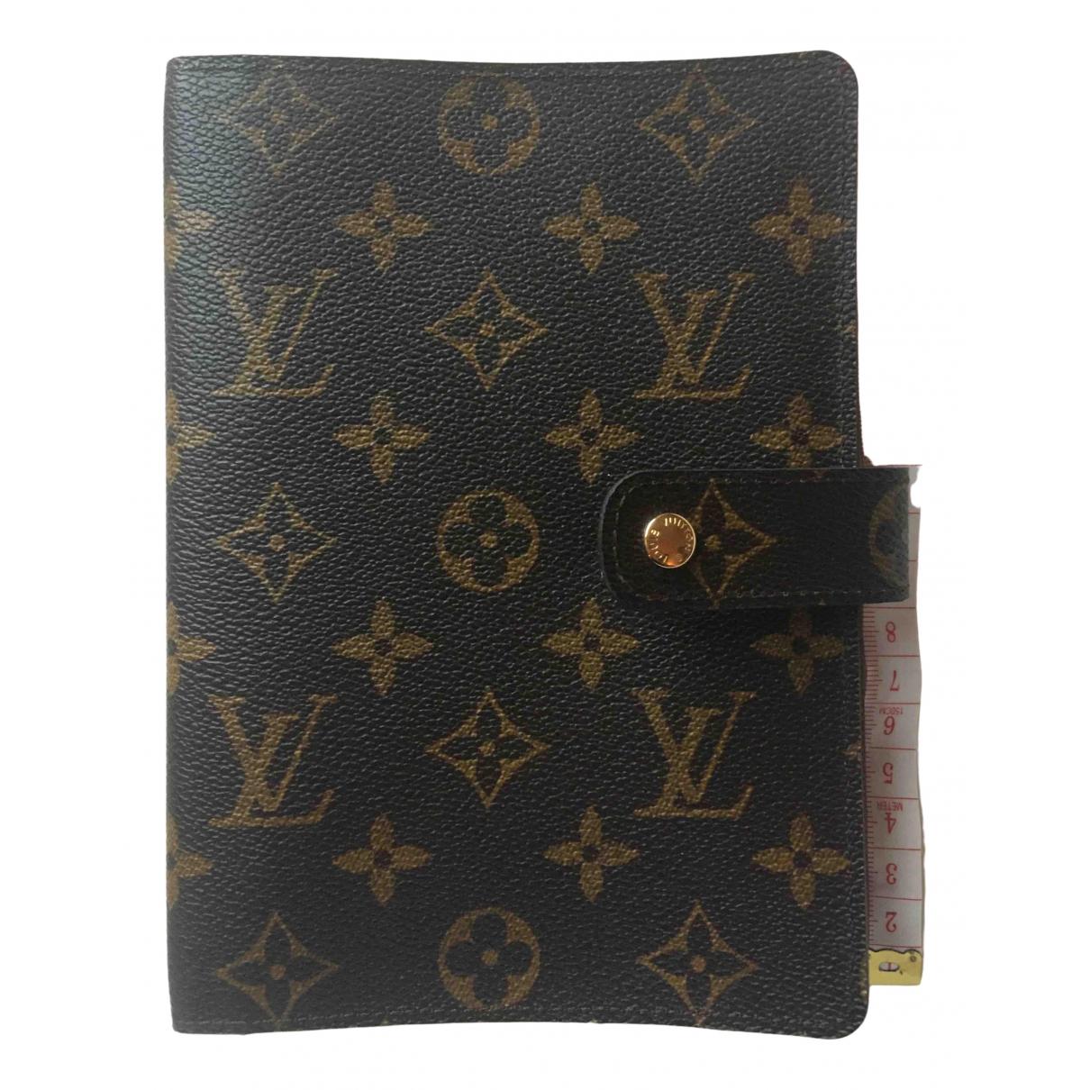 Louis Vuitton - Objets & Deco Couverture dagenda PM pour lifestyle en toile - marron