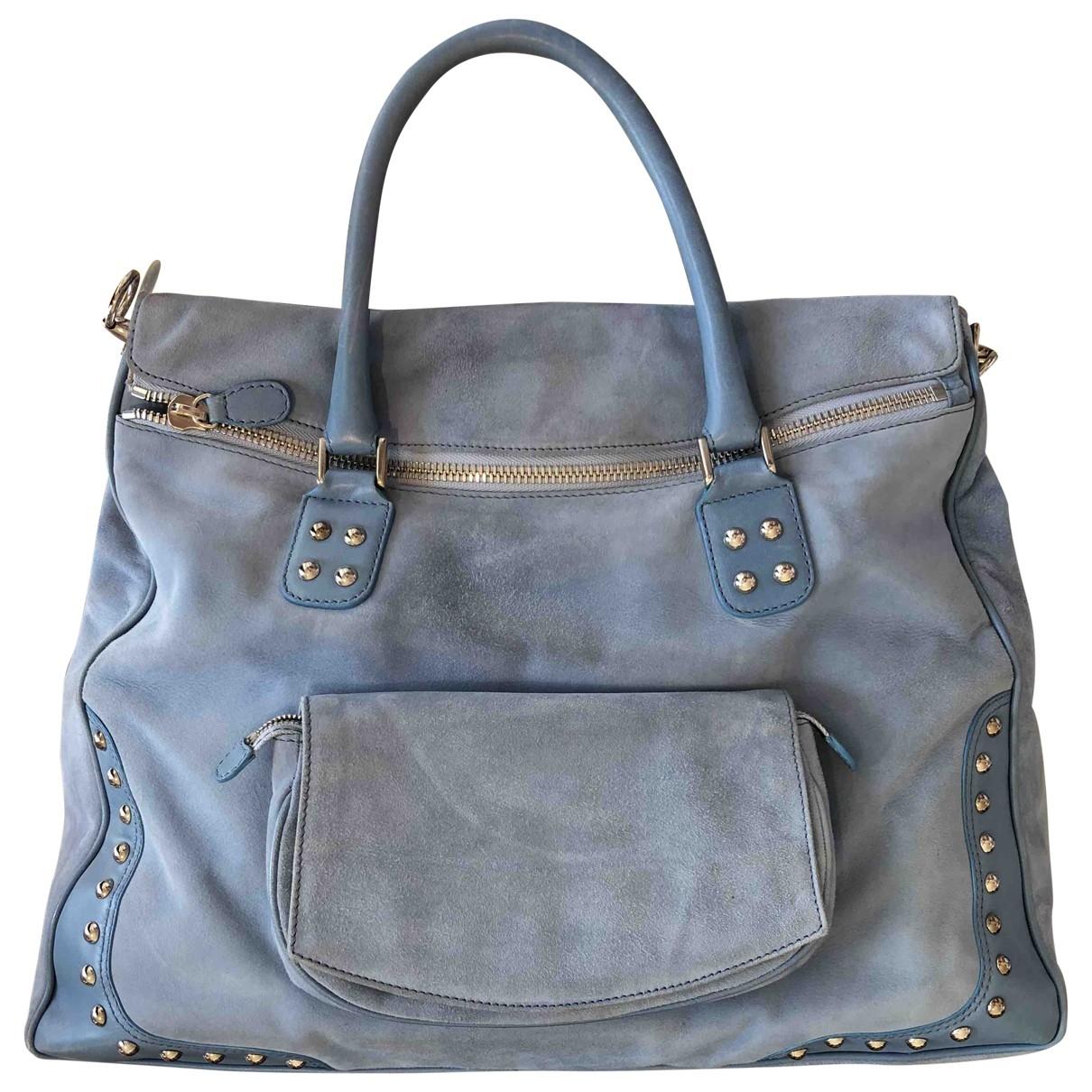Emilio Pucci \N Blue Suede handbag for Women \N