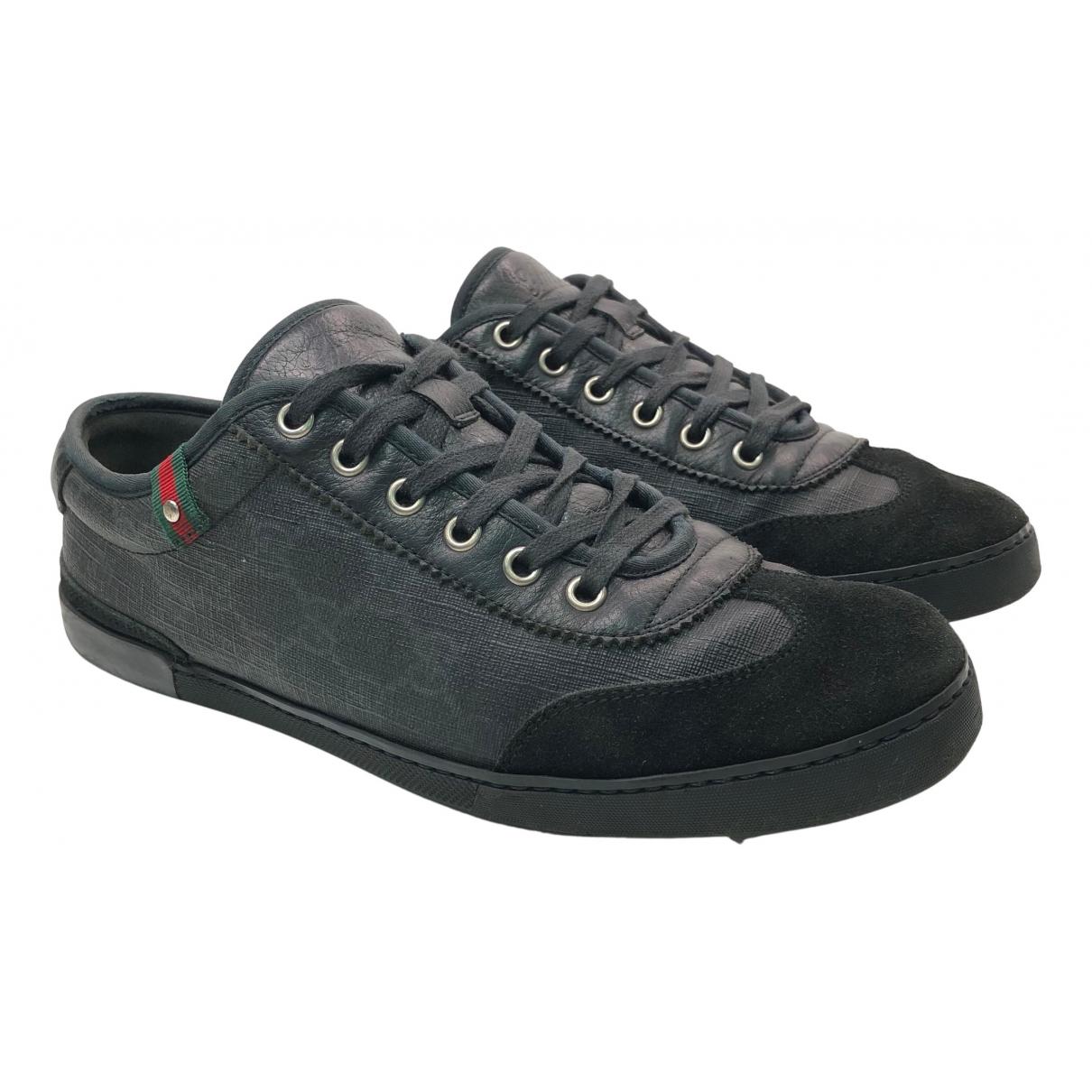 Gucci \N Sneakers in  Schwarz Leinen