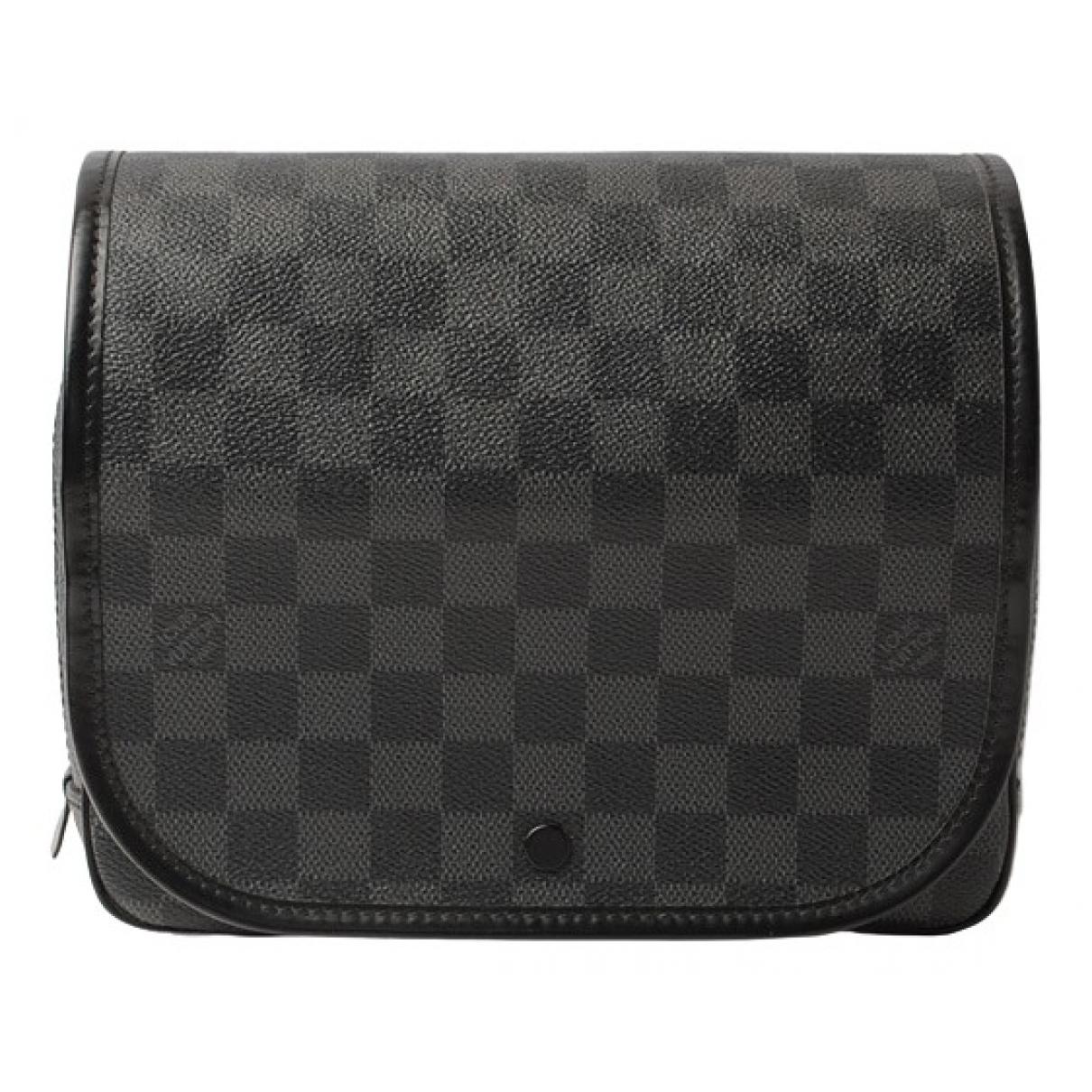 Louis Vuitton Trousse de toilette  Black Cloth Small bag, wallet & cases for Men N