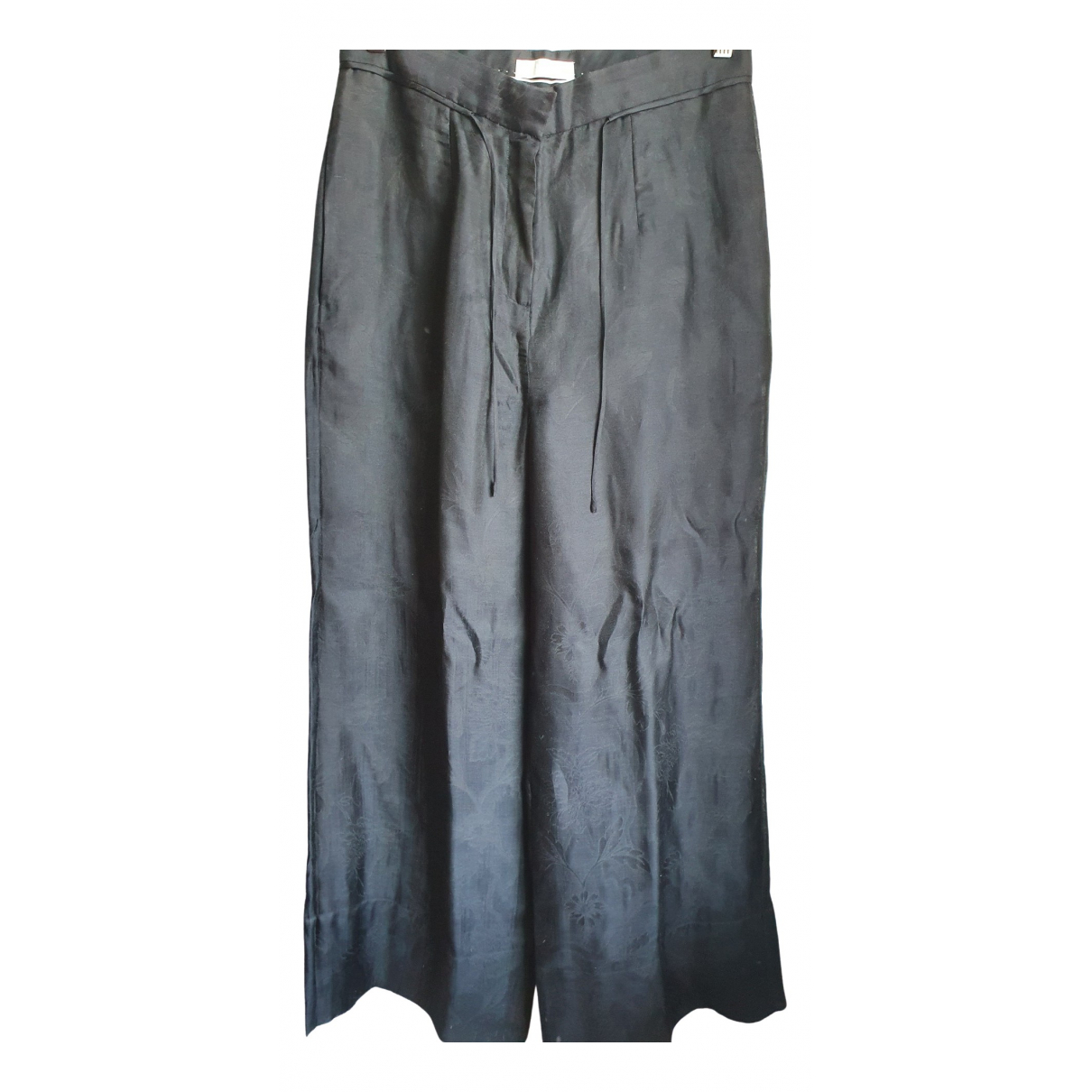 H&m Conscious Exclusive \N Black Silk Trousers for Women 10 US