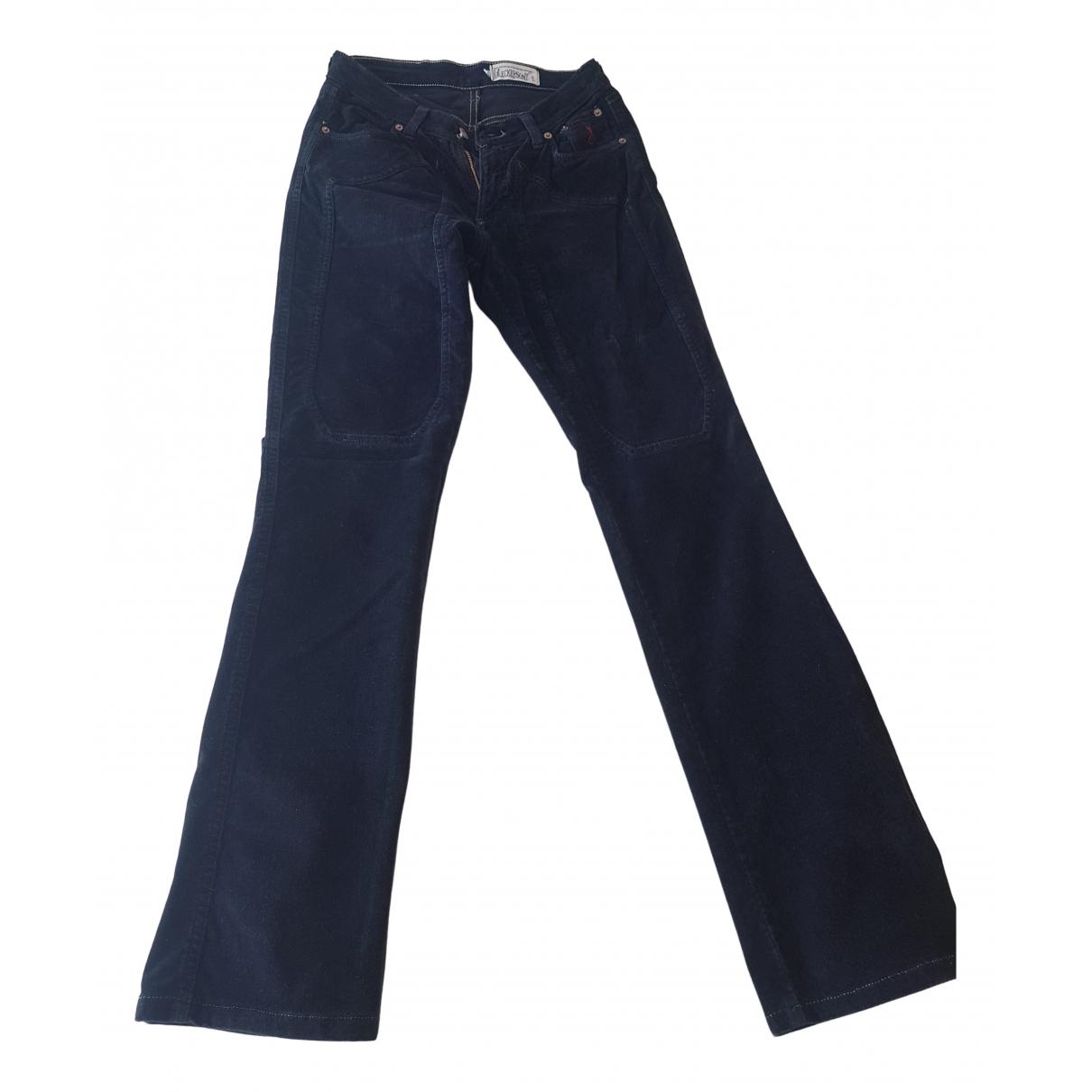 Non Signé / Unsigned N Black Velvet Trousers for Women 42 IT