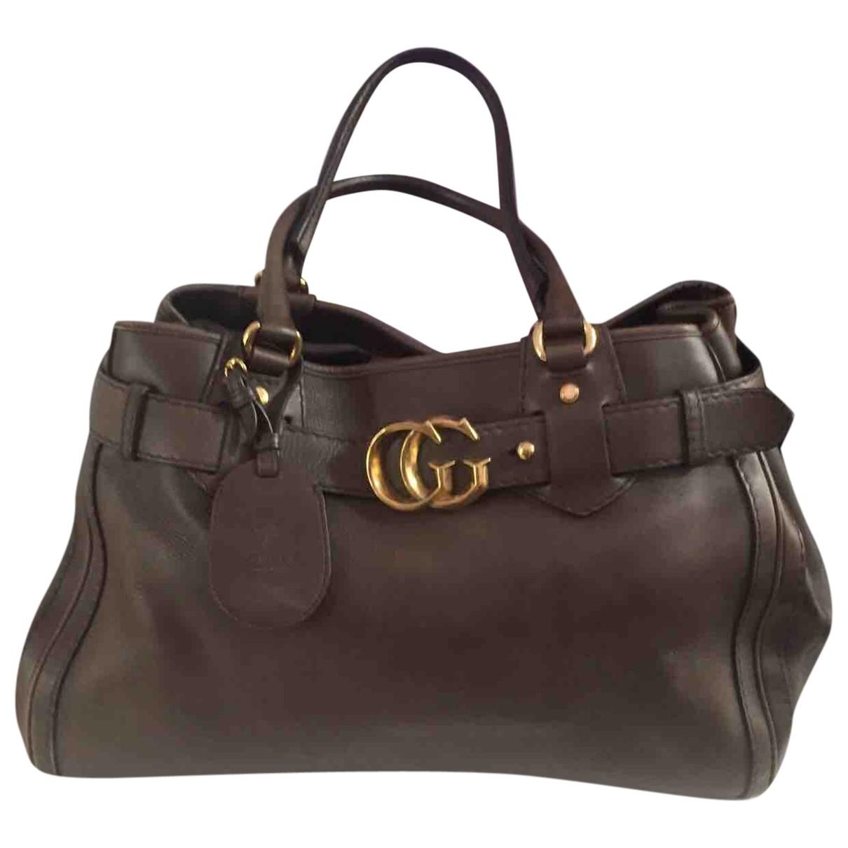 Gucci GG Running Handtasche in  Braun Leder