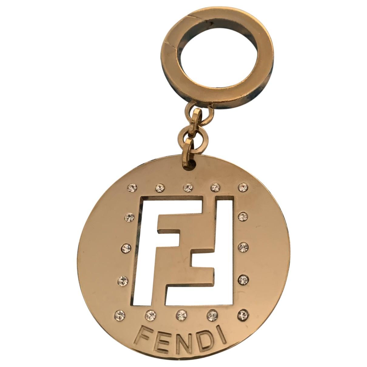 Fendi The Fendista Taschenschmuck in  Gold Metall