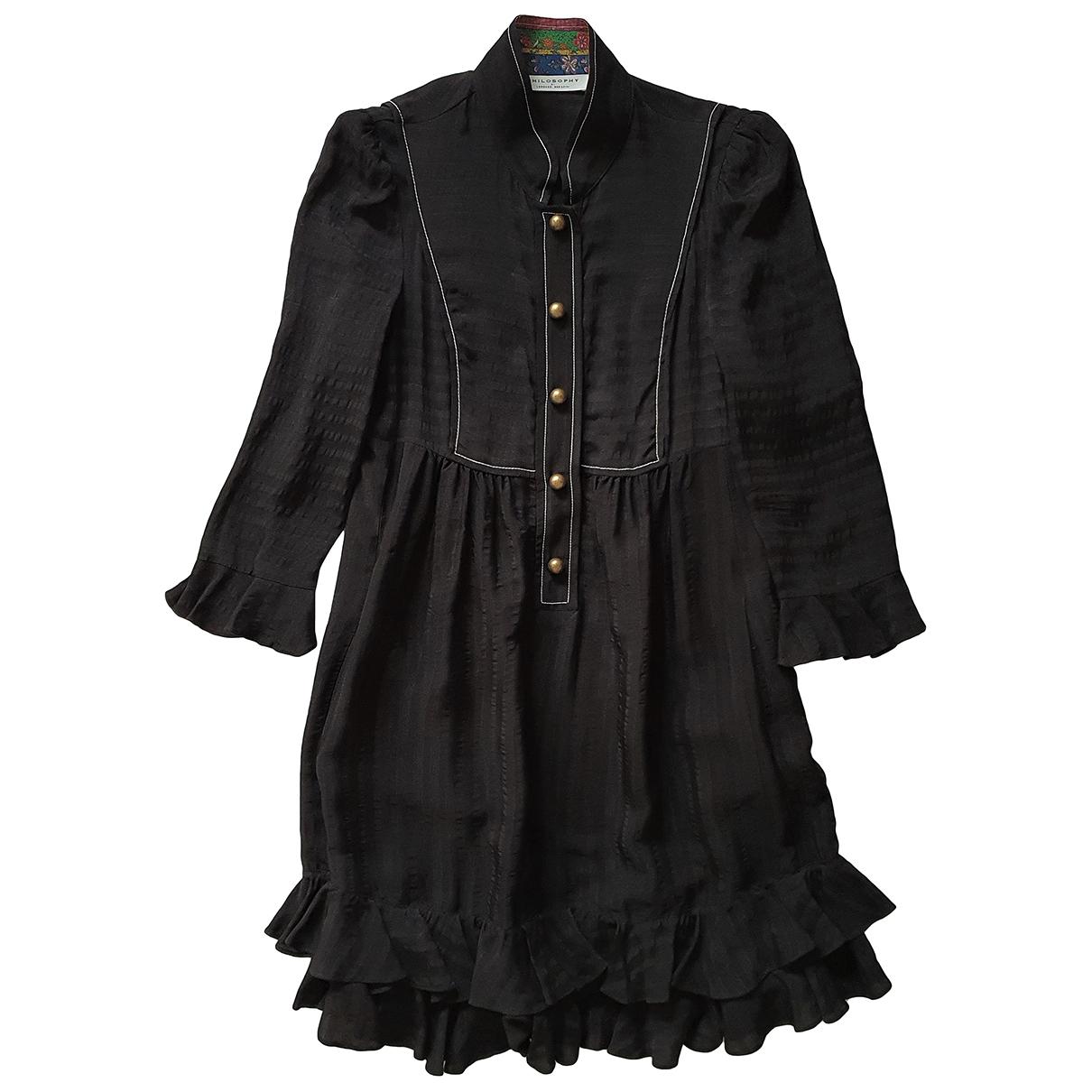 Vestido de Seda Philosophy Di Lorenzo Serafini