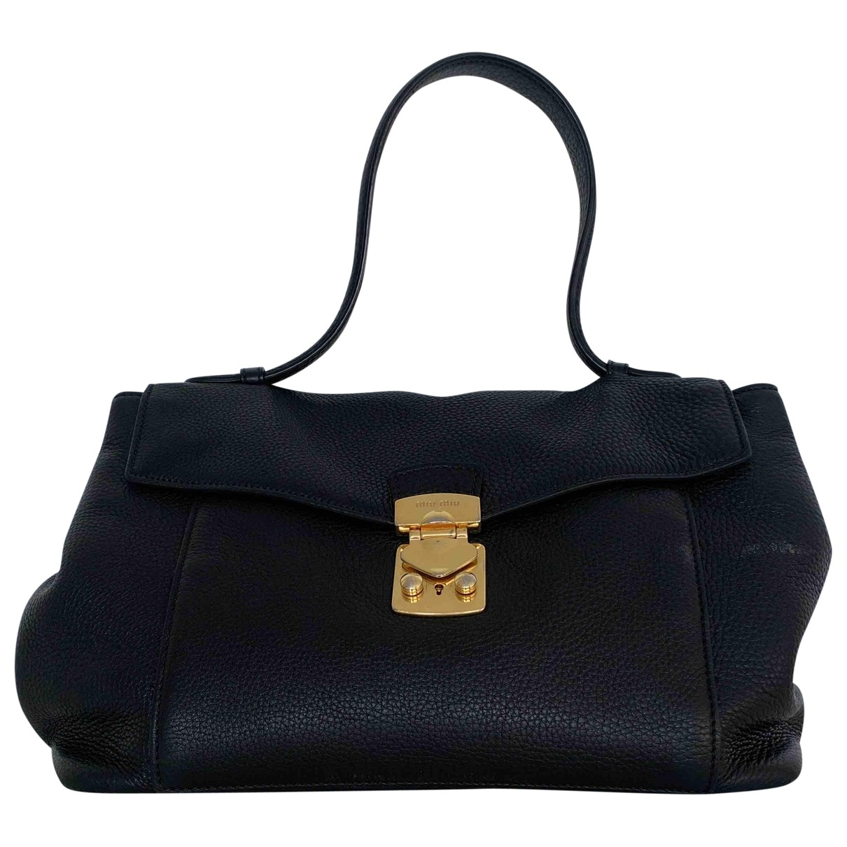 Miu Miu Coffer Black Leather handbag for Women \N