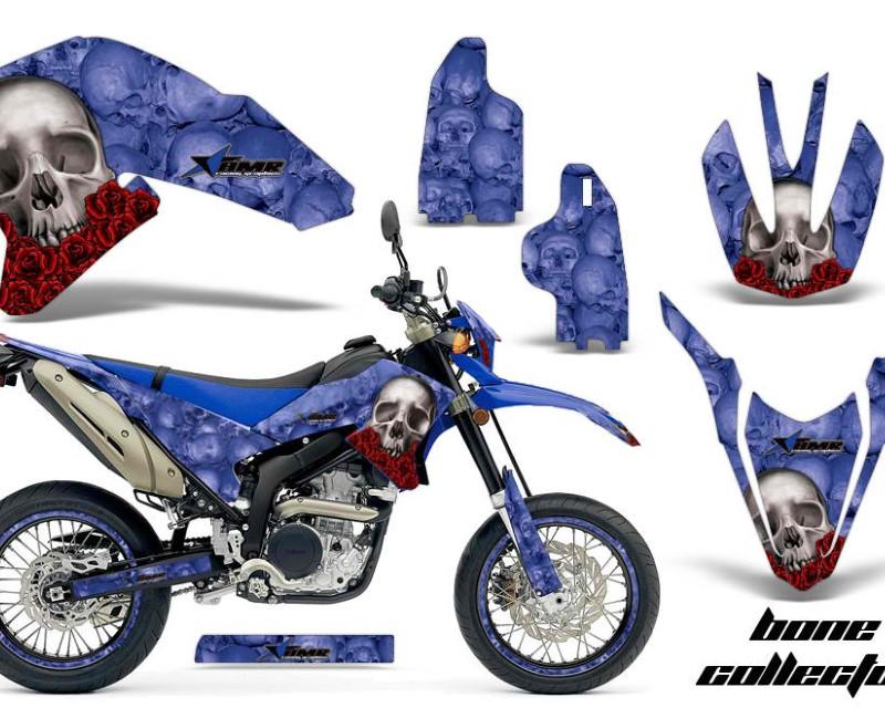 AMR Racing Graphics MX-NP-YAM-WR250R-WR250X-07-16-BC U Kit Decals Sticker Wrap + # Plates For Yamaha WR250R WR250X 2007-2016áBONES BLUE