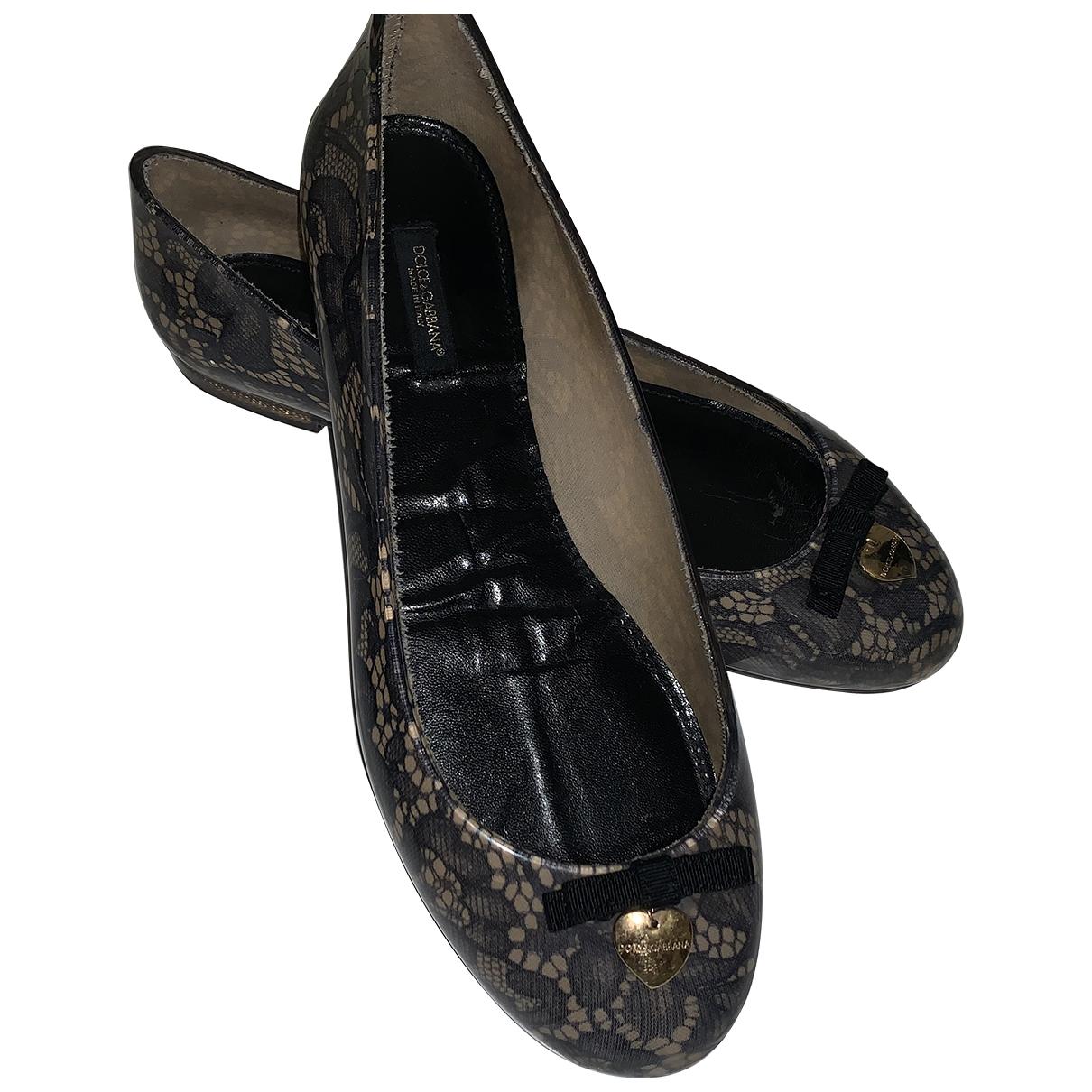Dolce & Gabbana - Ballerines   pour femme en caoutchouc - noir