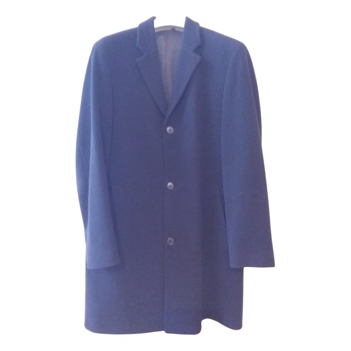 Boss - Manteau   pour homme en laine - bleu