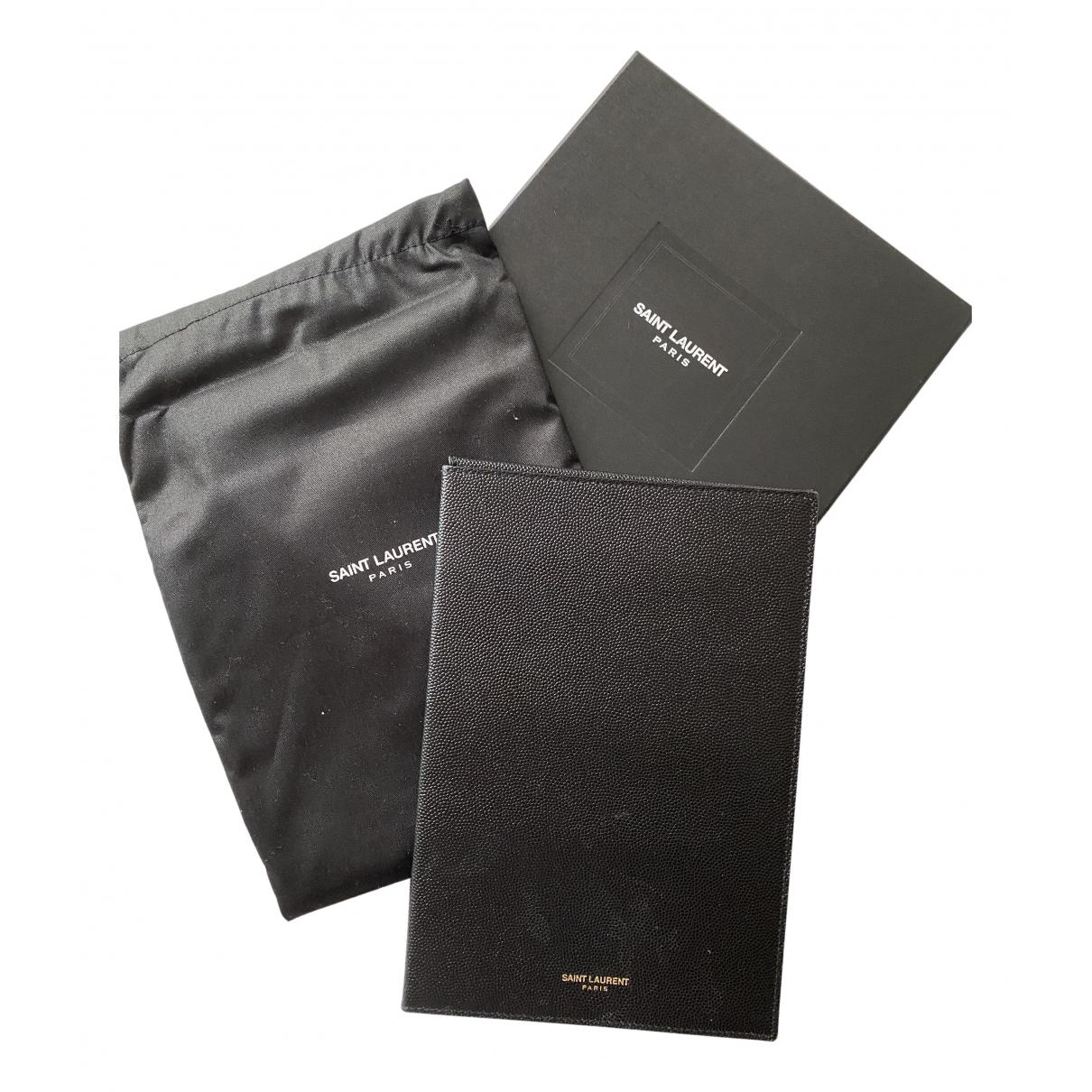 Saint Laurent \N Accessoires in  Schwarz Leder