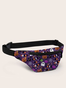 Halloween Cartoon Graphic Fanny Pack