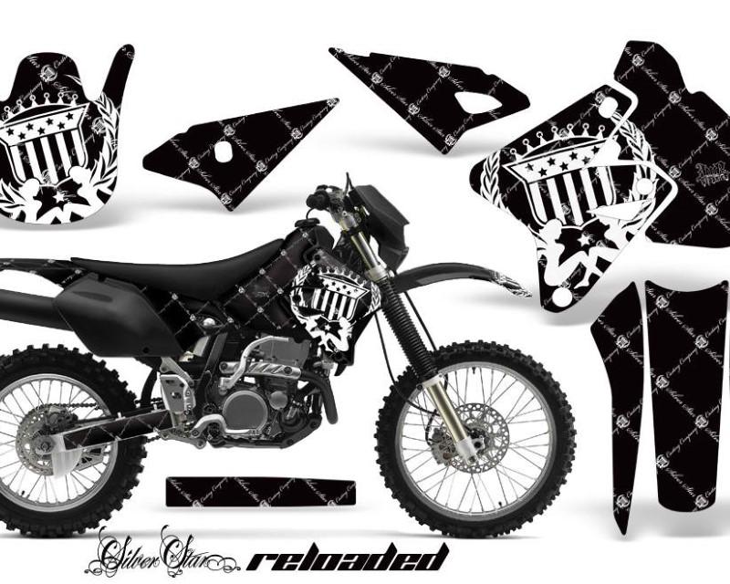 AMR Racing Dirt Bike Graphics Kit Decal Sticker Wrap For Suzuki DRZ400S 2000-2018áRELOADED WHITE BLACK