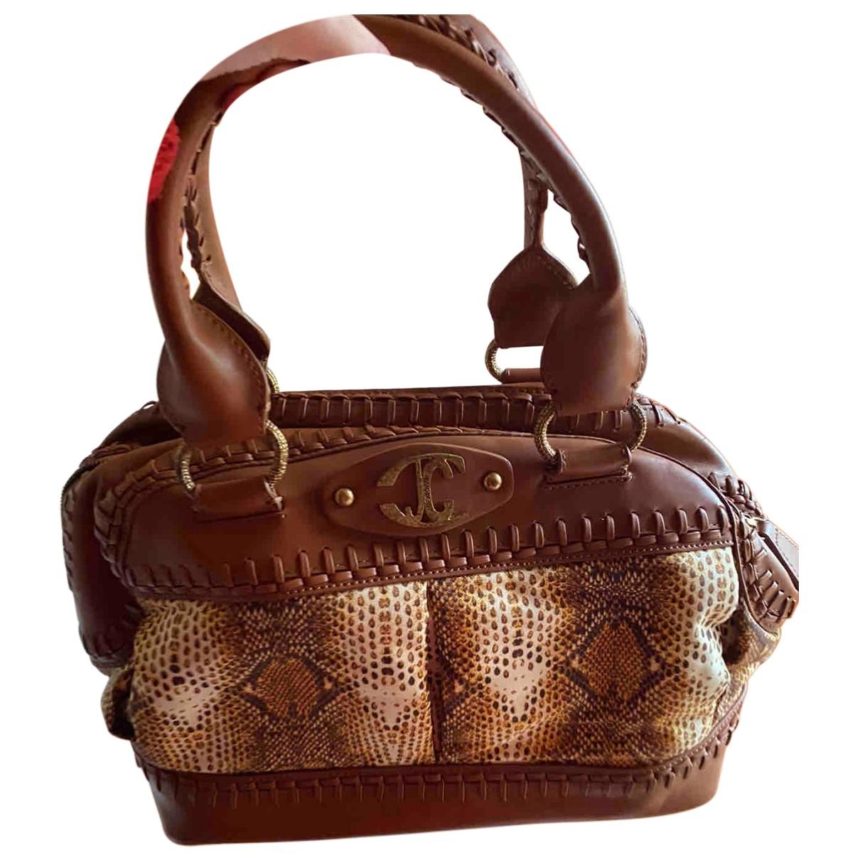 Just Cavalli N Beige Leather handbag for Women N