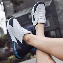 Maenner Zweifarbige Sneakers mit Netzstoff