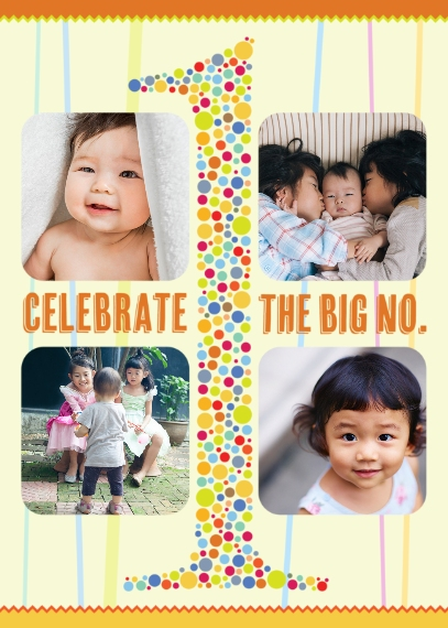 Kids Birthday Greeting Cards Mail-for-Me Premium 5x7 Folded Card , Card & Stationery -The Big No 1 Birthday