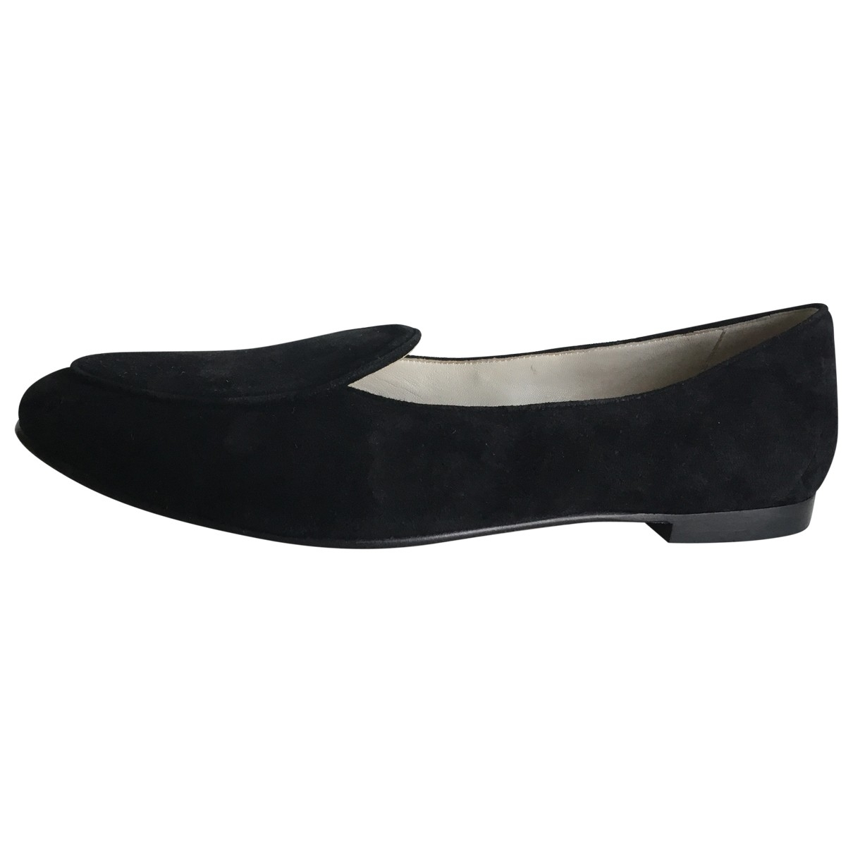 Giorgio Armani \N Black Suede Ballet flats for Women 37.5 IT