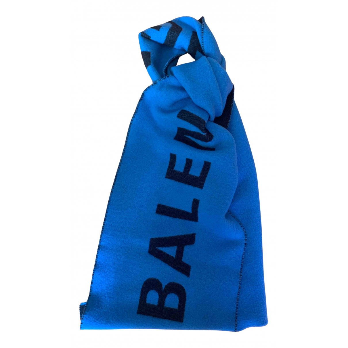 Balenciaga - Cheches.Echarpes   pour homme en laine - turquoise