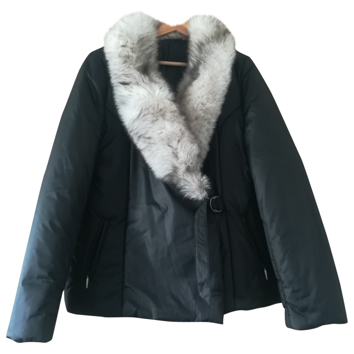 Non Signé / Unsigned \N Black Fox coat for Women L International
