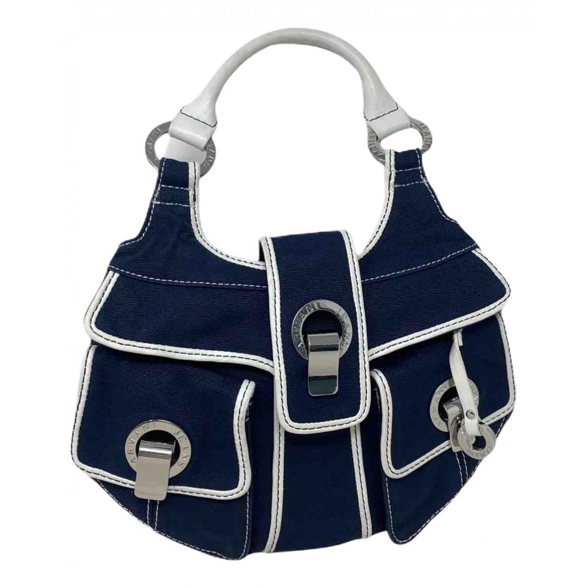 Armani Jeans N Blue Cloth handbag for Women N