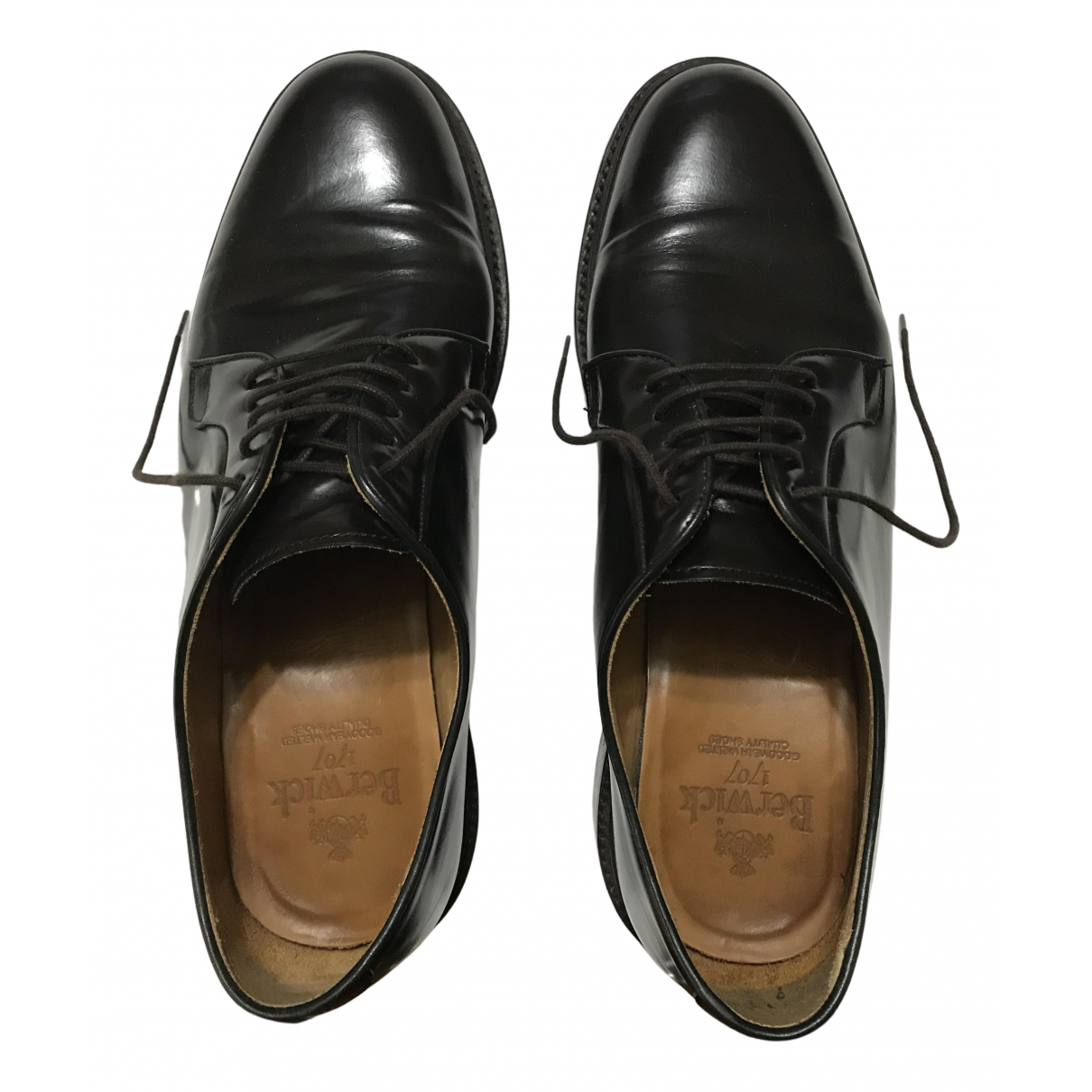 Non Signé / Unsigned N Brown Leather Lace ups for Men 44 EU
