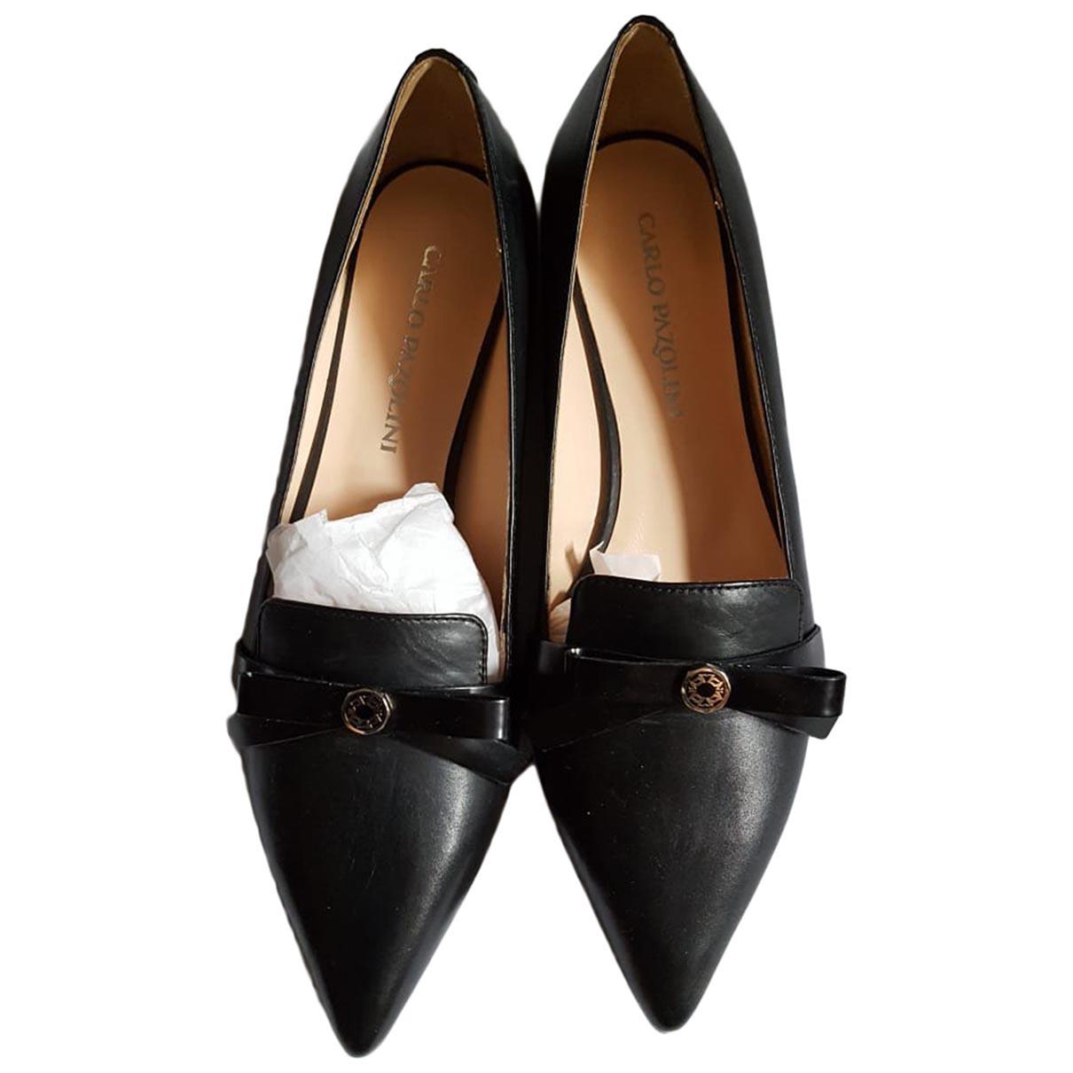 Carlo Pazolini \N Black Leather Ballet flats for Women 36 EU