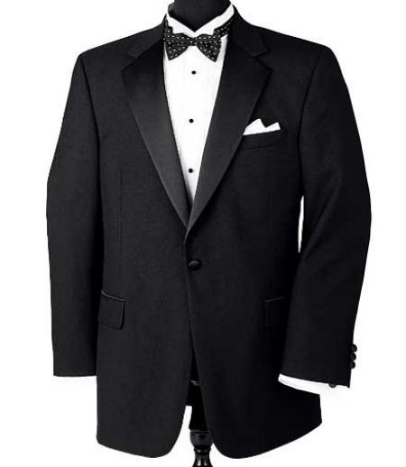 One Button Notch Tuxedo Super 150's Wool Jacket + Pants