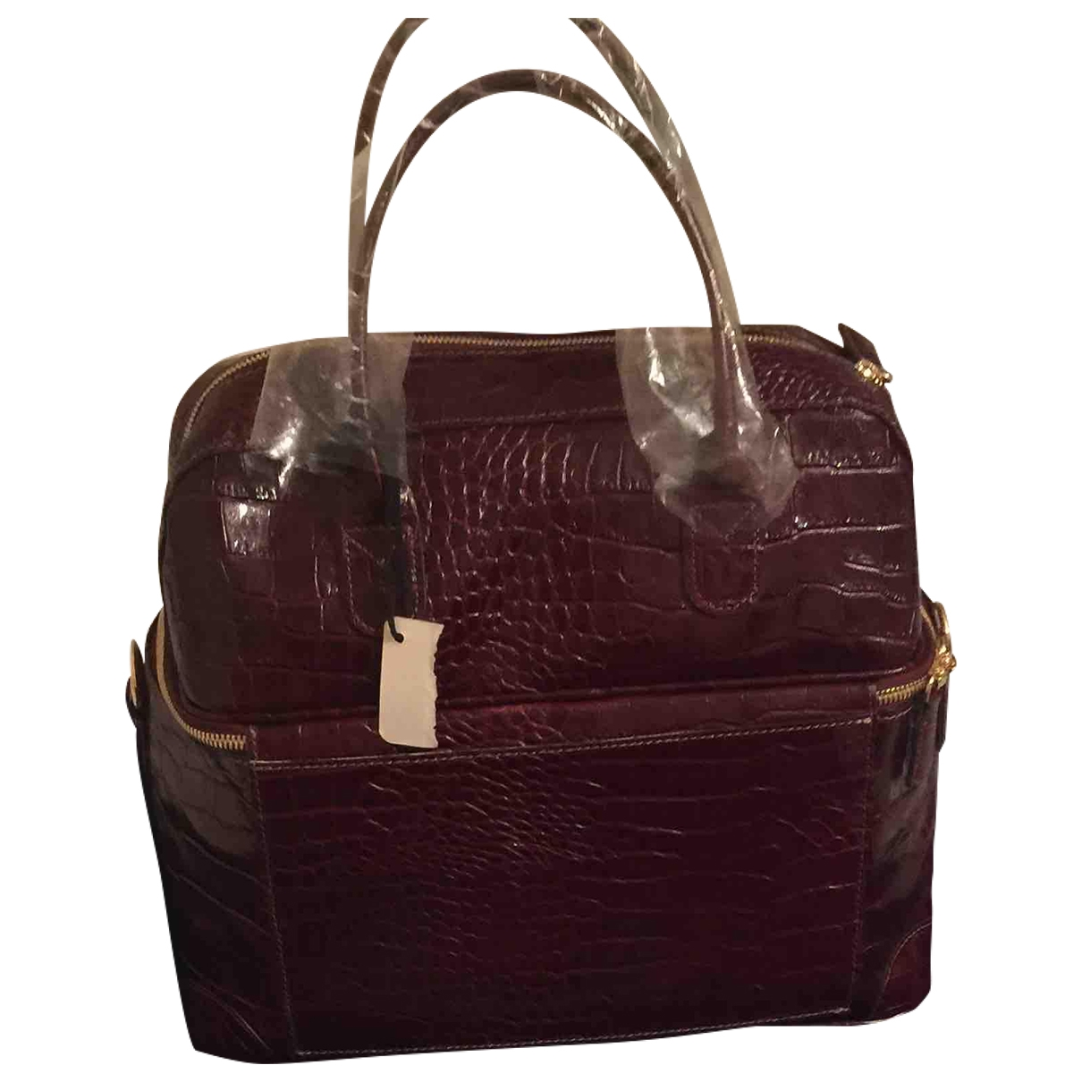 Bric's \N Burgundy Leather Travel bag for Women \N