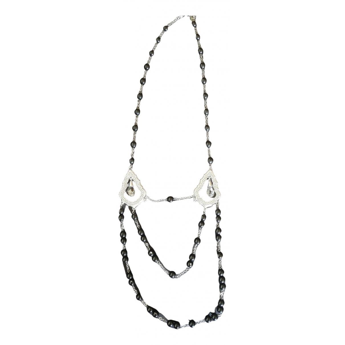 Swarovski - Collier   pour femme en perles - noir