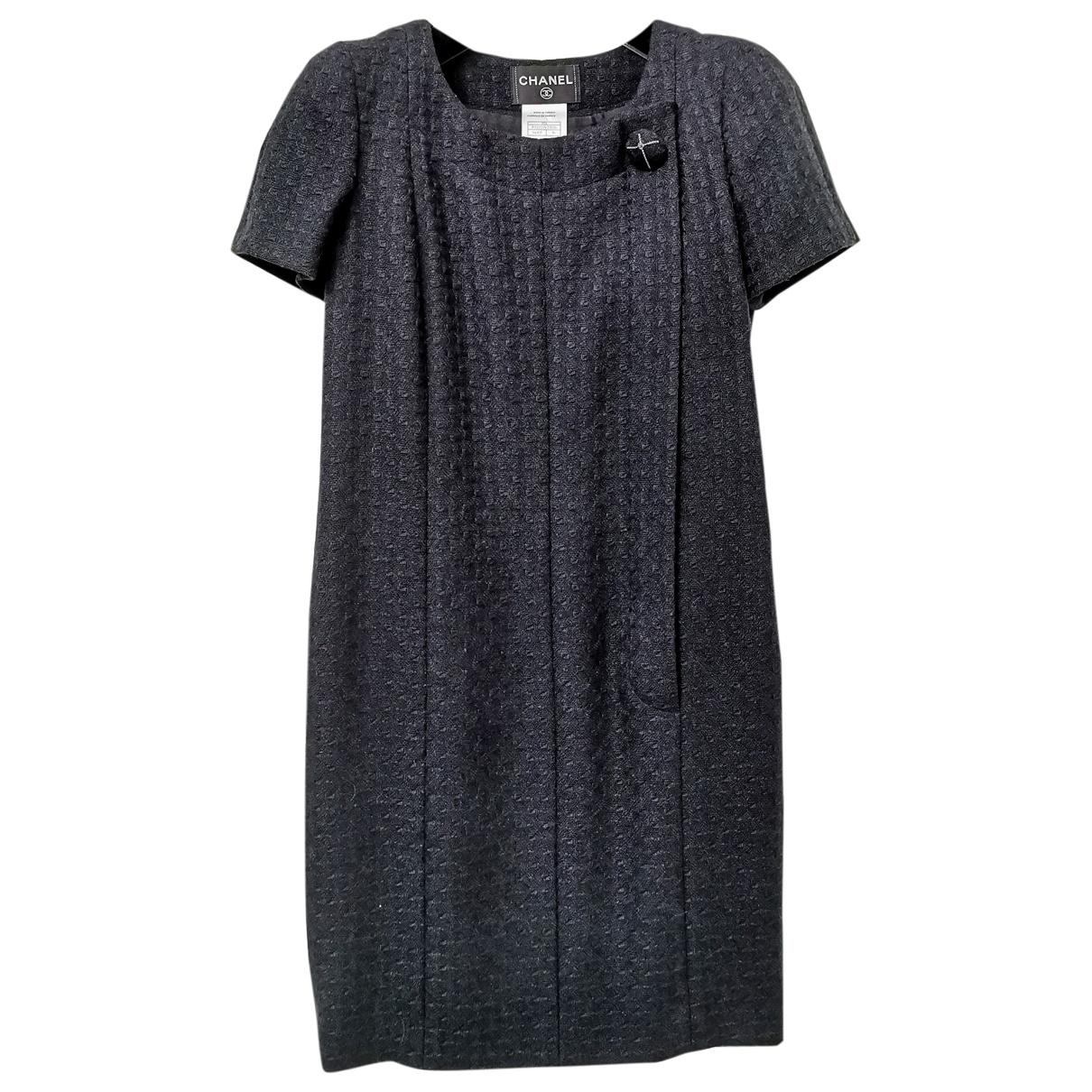 Chanel \N Kleid in  Marine Wolle