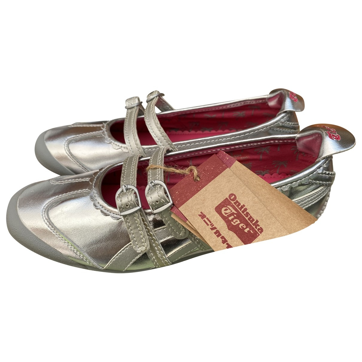 Asics \N Sneakers in  Silber Leder