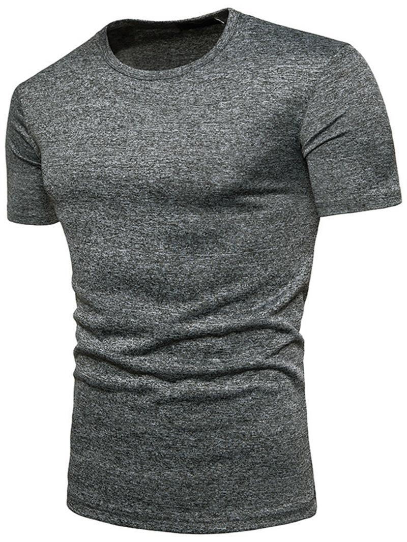 Ericdress Round Neck Plain Slim Mens T-shirt