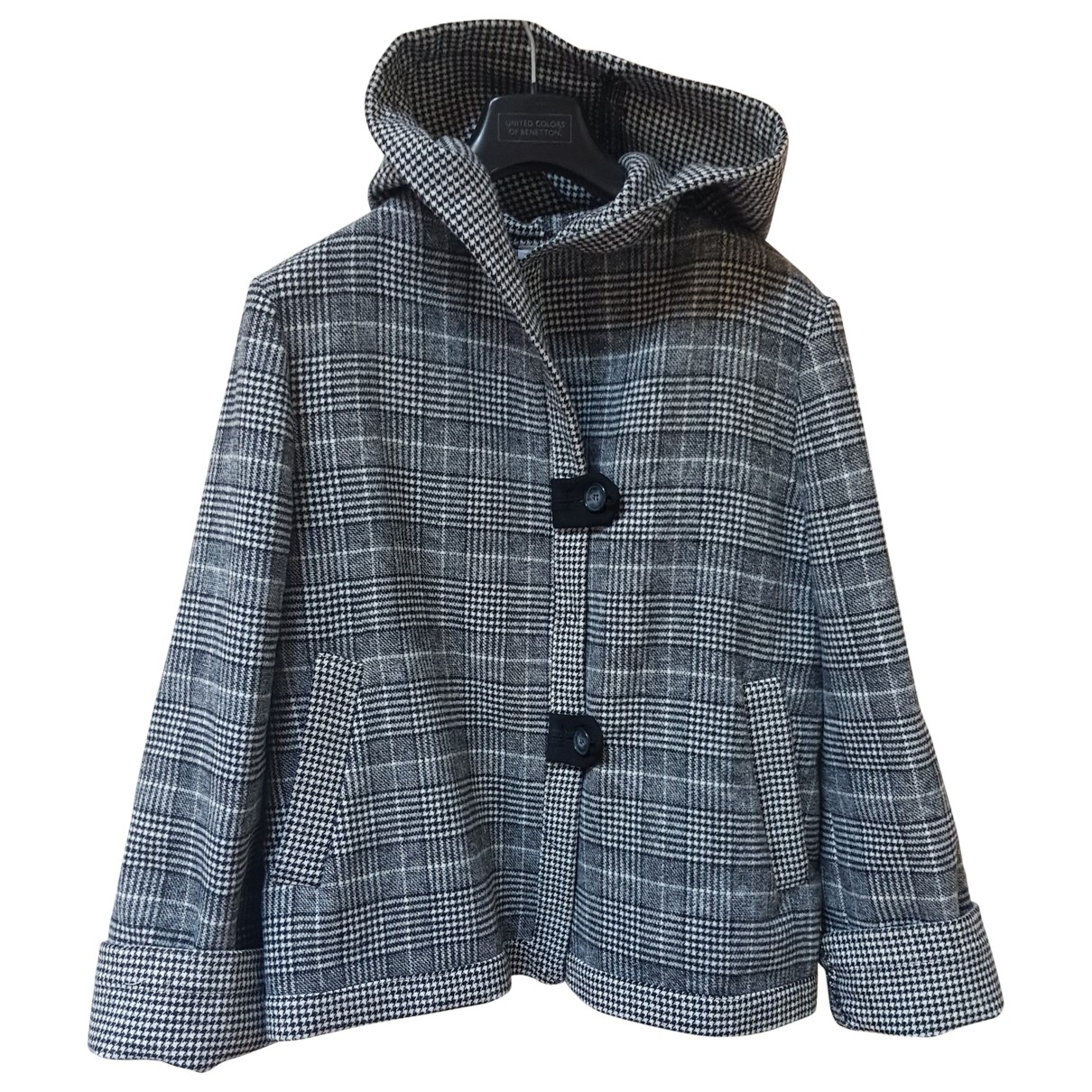 Non Signe / Unsigned \N Jacke in  Grau Polyester