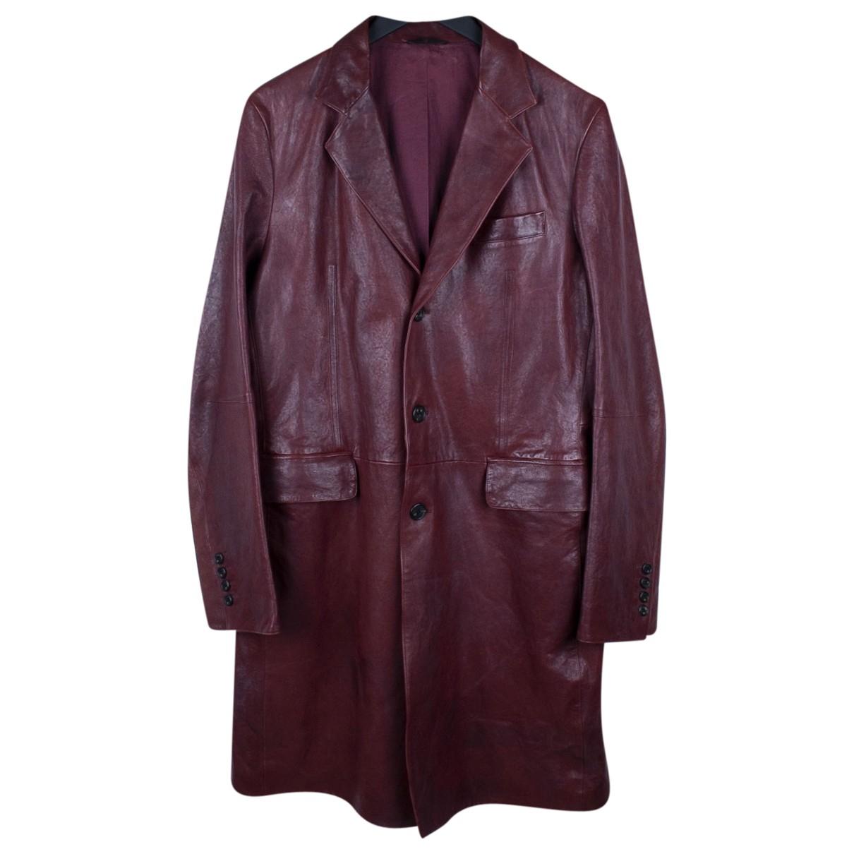 Yohji Yamamoto \N Burgundy Leather coat  for Men M International
