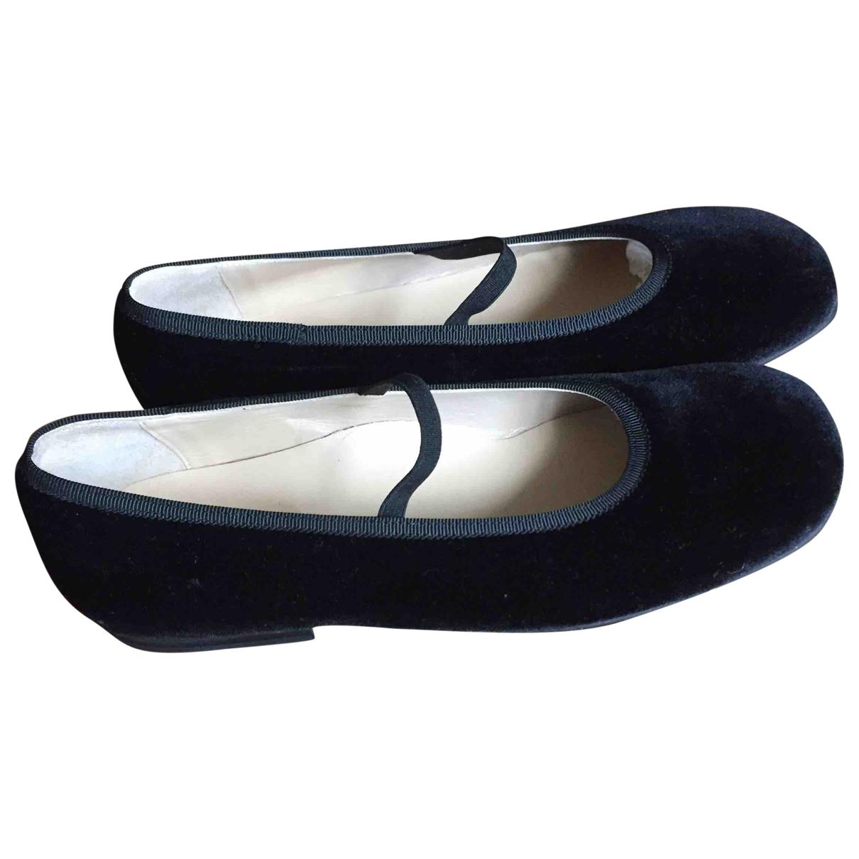 - Ballerines   pour enfant en velours - noir