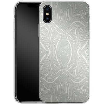 Apple iPhone X Silikon Handyhuelle - Ghoul Pattern von caseable Designs