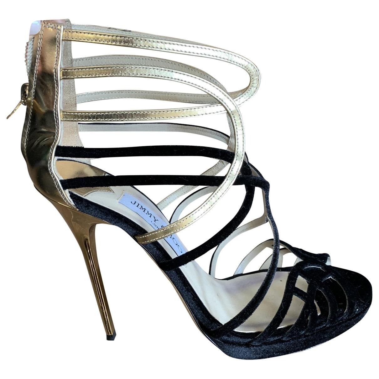 Jimmy Choo - Sandales   pour femme en velours - noir