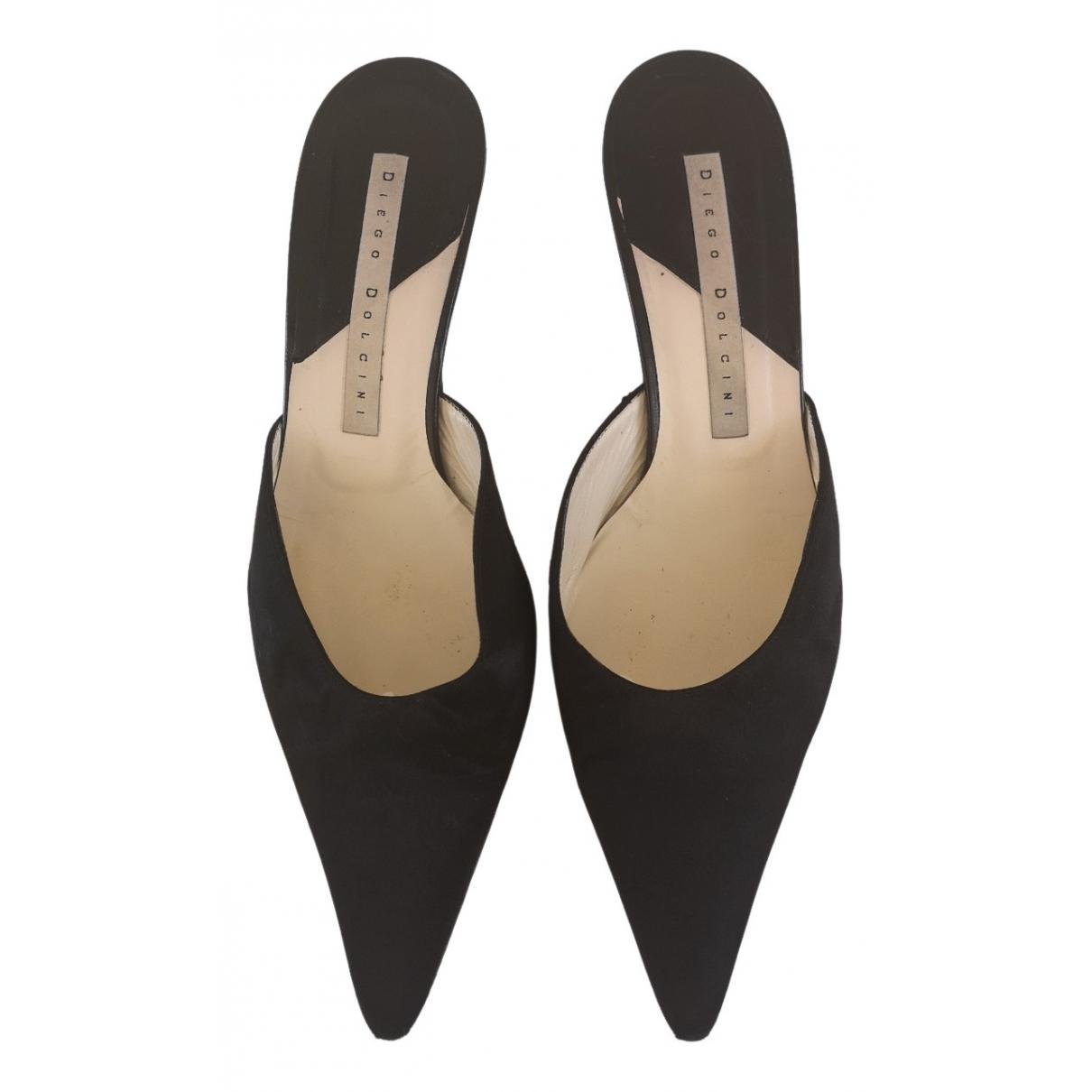 Diego Dolcini \N Black Cloth Flats for Women 39 EU