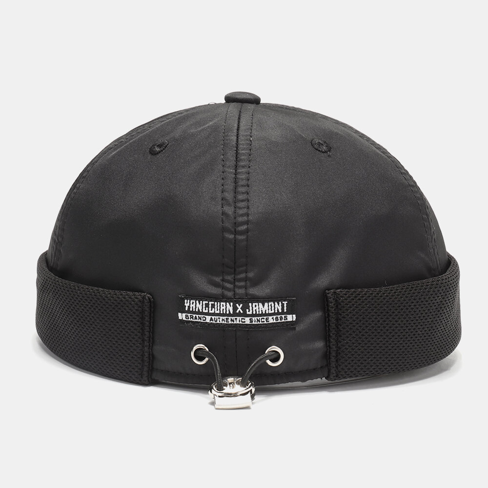 Breathable Mesh Skull Cap Brimless Hat With Buttons