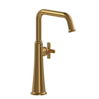 Momenti MMSQL01XBG-05 Single Hole Lavatory Faucet with x Cross Handle 0.5 GPM  in Brushed