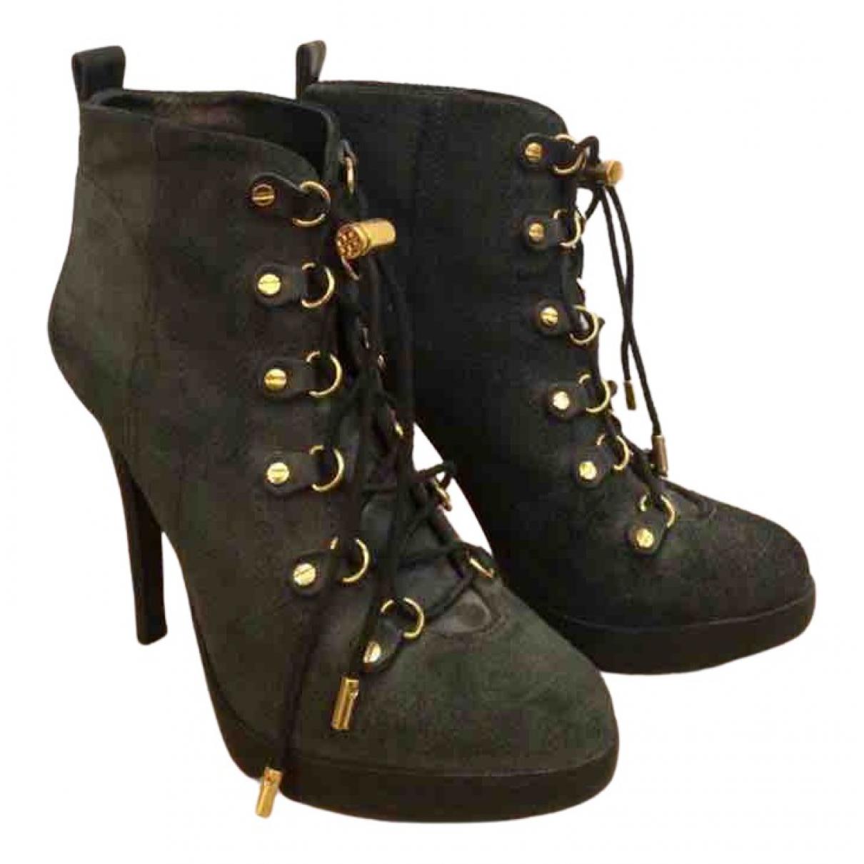 Tory Burch - Boots   pour femme en cuir - kaki