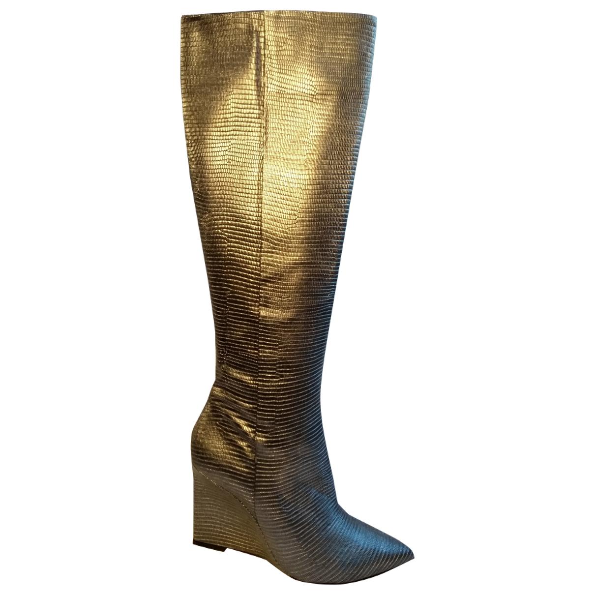 Just Cavalli - Bottes   pour femme en cuir - argente