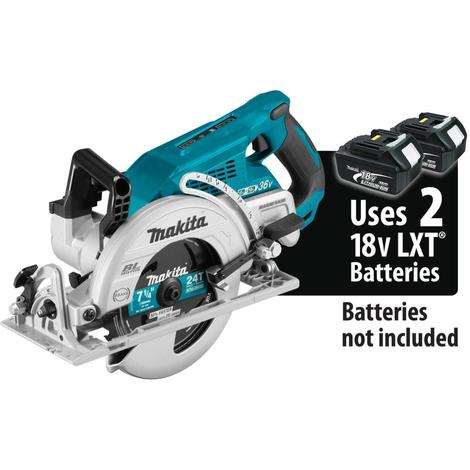 Makita 18V X2 LXT Lithium-Ion (36V) Brushless Cordless Rear Handle 7-1/4 In. Circular Saw, Tool Only