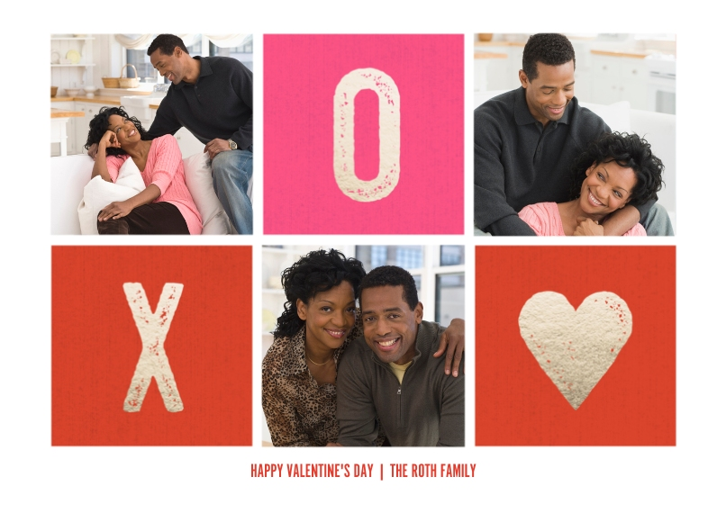 Valentine's Cards Flat Matte Photo Paper Cards with Envelopes, 5x7, Card & Stationery -XO Gold Stamp