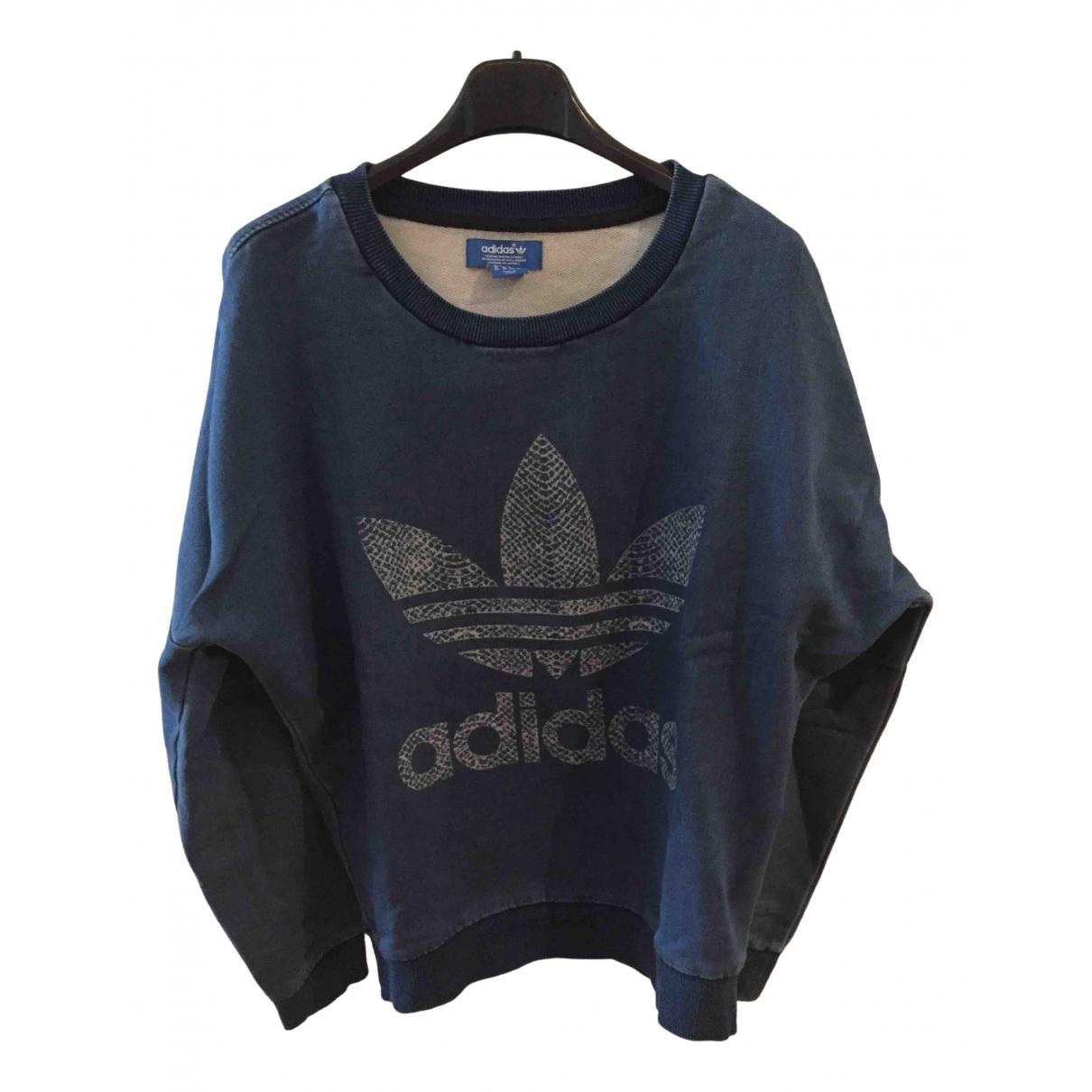 Adidas N Blue Cotton Knitwear for Women 40 IT