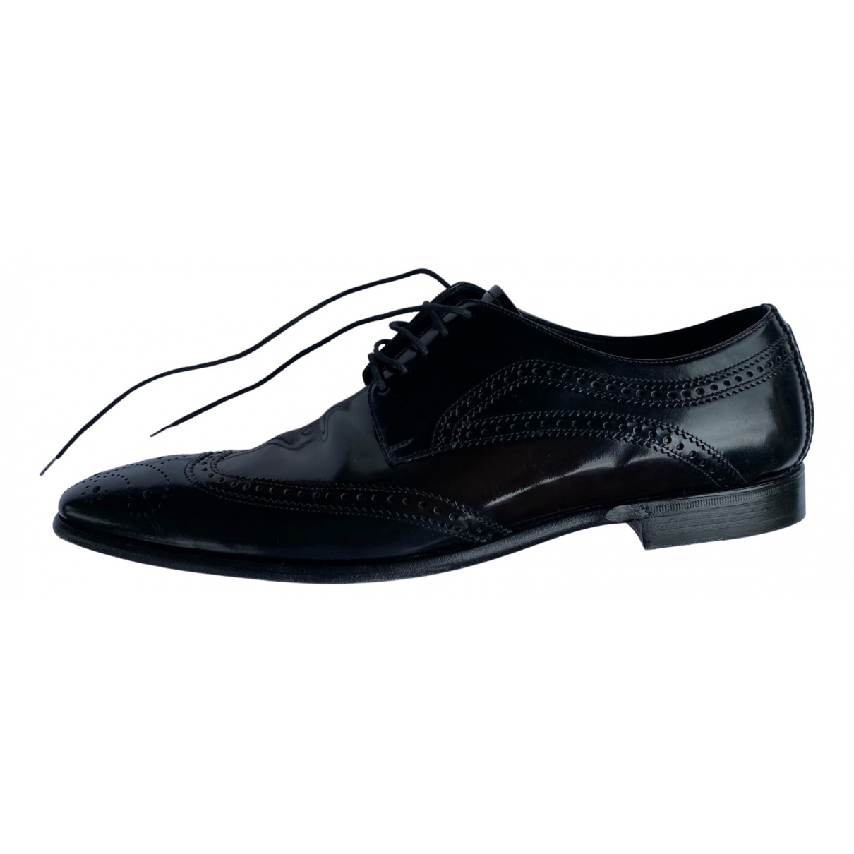 Dolce & Gabbana - Derbies   pour homme en cuir - noir