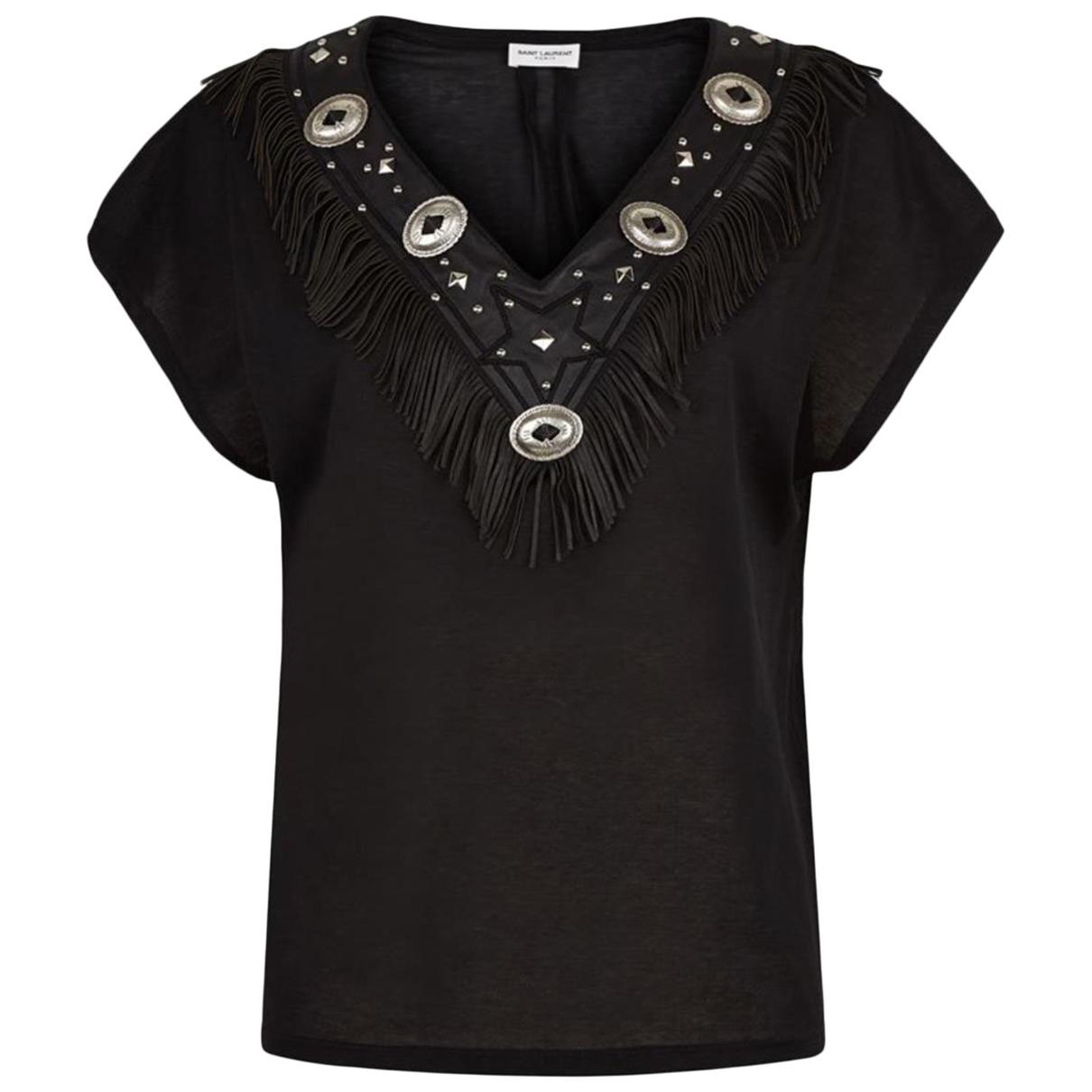 Saint Laurent N Black Cotton  top for Women S International
