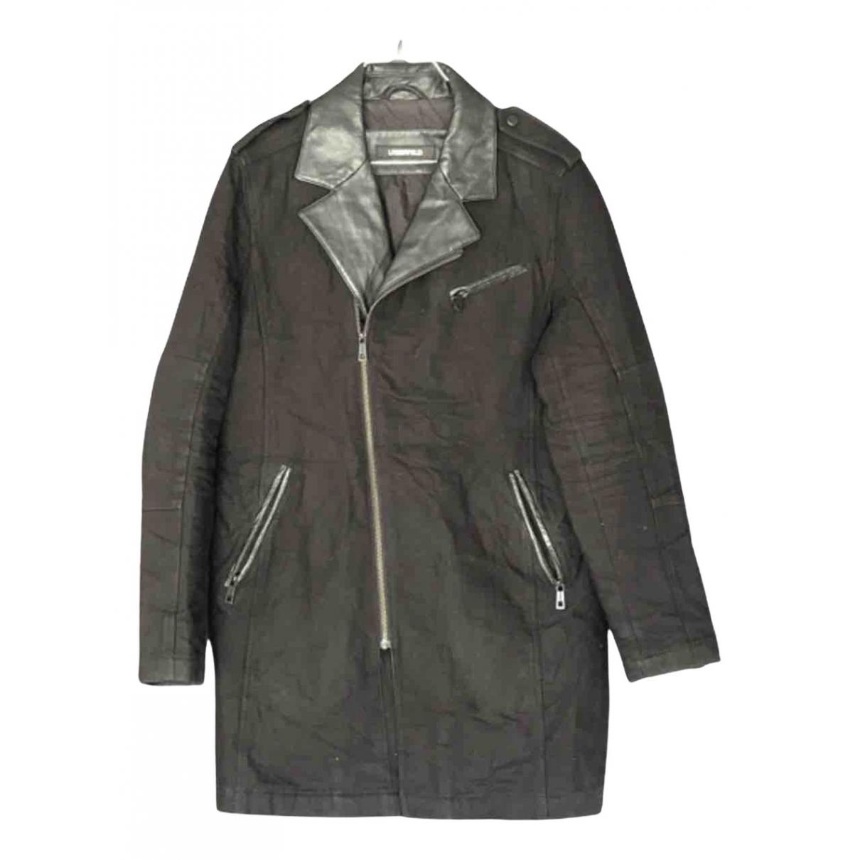 Karl Lagerfeld - Manteau   pour homme en coton - noir