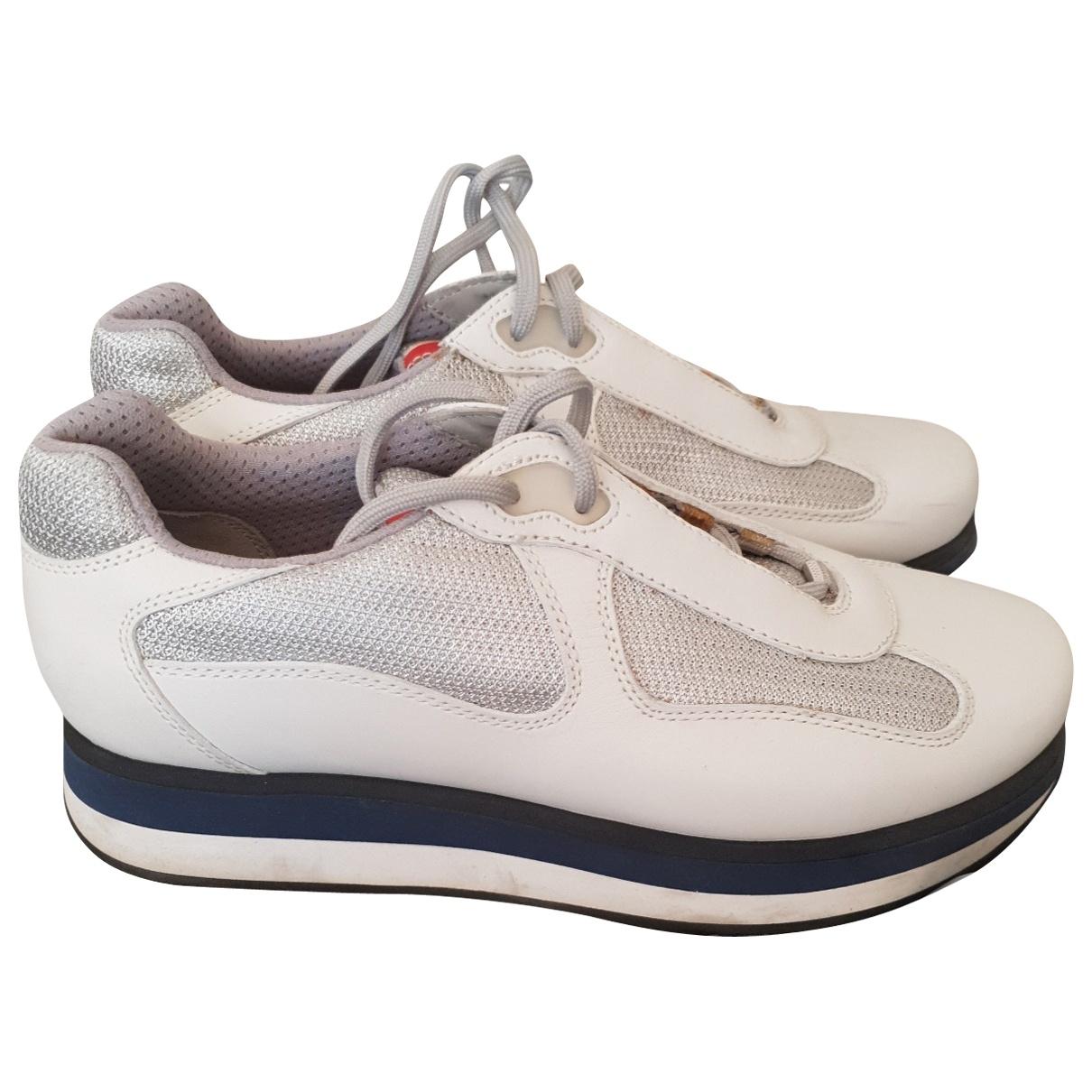 Prada \N White Leather Trainers for Men 6 UK