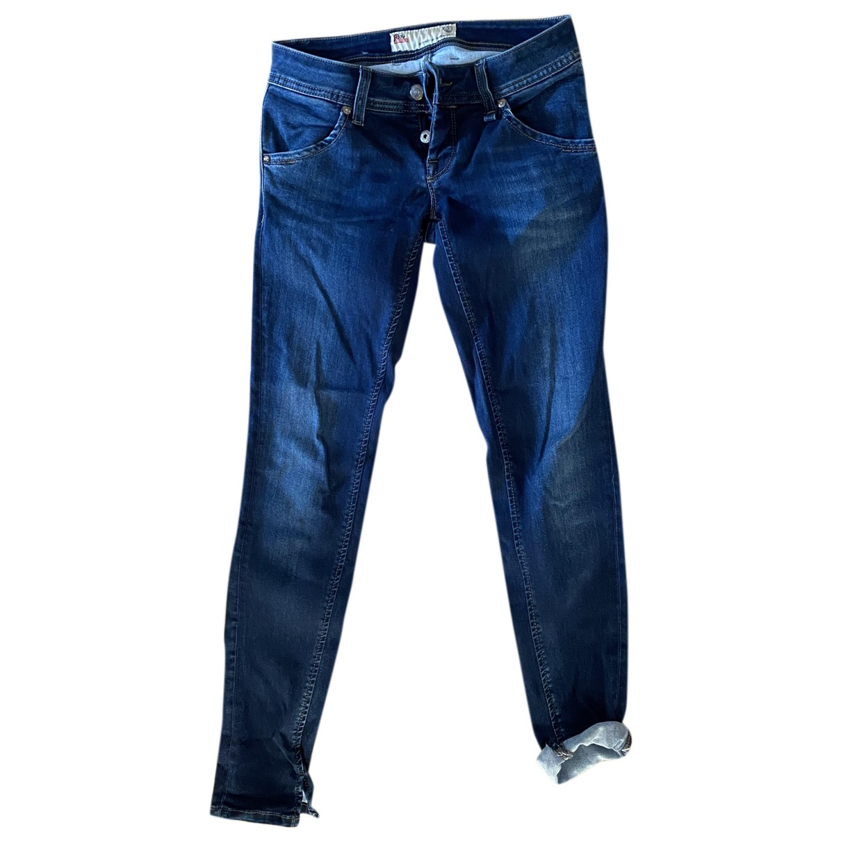 Roy Roger's N Blue Cotton - elasthane Jeans for Women 27 US
