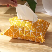 Geometric Pattern Tissue Storage Bag